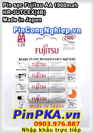 Pin sạc tiểu AA Fujitsu 1900mah HR-3UTCEX(4B) (vỉ 4) (Japan)