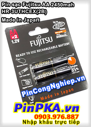 Pin sạc AA Fujitsu 2450mah HR-3UTHCEX(2B) Made in Japan