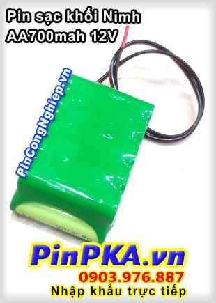 Pin sạc khối Nimh AA 700mah 12V